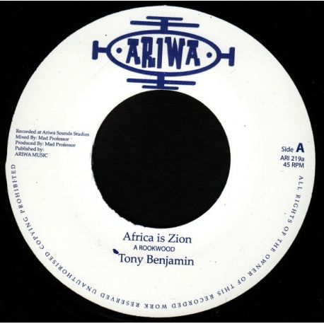 Tony Benjamin - Africa Is Zion - 7""