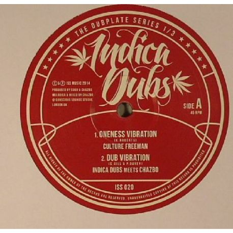 Culture Freeman /  Indica Dubs /  Chazbo /  - The Dubplate Series 1/3 - 10""