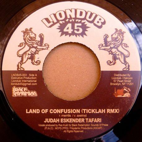 """Judah Eskender Tafari /  Ticklah - Land Of Confusion (Ticklah Rmx) / Confused Dub - 7"""""""