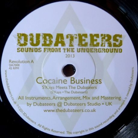 "S'Kaya /  Dubateers, The - Cocaine Business - 7"""