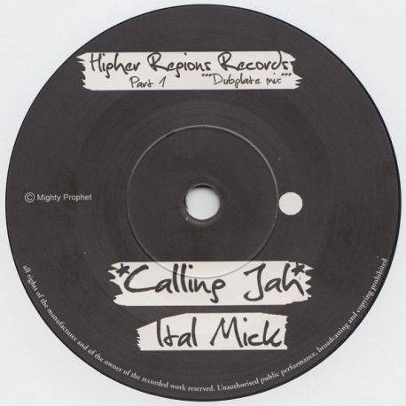 """Ital Mick - Calling Jah - 7"""""""