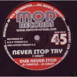 """Ilawy /  Apocalypse Dub Faction - Never Stop Try / Burning Bush - 10"""""""