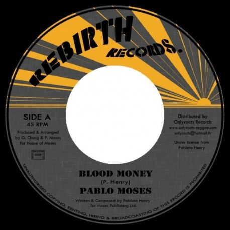 "Pablo Moses - Blood Money / Version - 7"""
