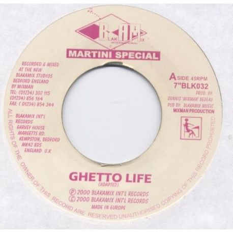 Martini Special - Ghetto Life - 7""