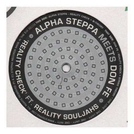 "Alpha Steppa /  Don Fe - Reality Check - 12"""
