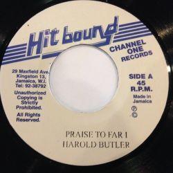 "Harold Butler - Praise To Far I - 7"""