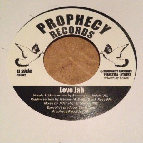 "Bunnington Judah /  Artman  - Love jah - 7"""