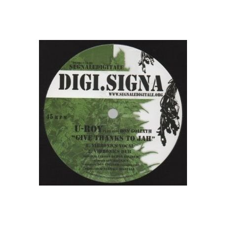 """U-Roy /  Don Goliath /  Daddy Spencer - Give Thanks To Jah / Weep & Mourn - 12"""""""