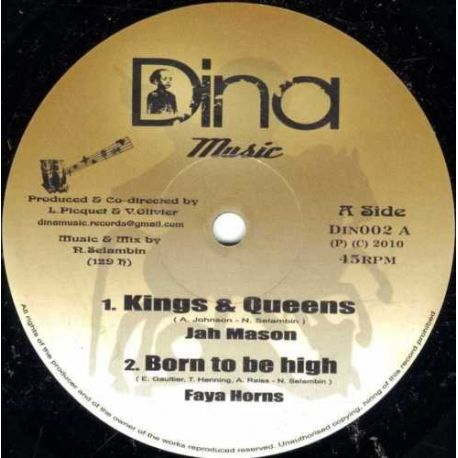 Jah Mason , Lyricson - Kings & Queens , Nah Sekkle - 10""