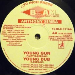 Anthony Simba - Jah Watcheth Over Me / Young Gun - 10""
