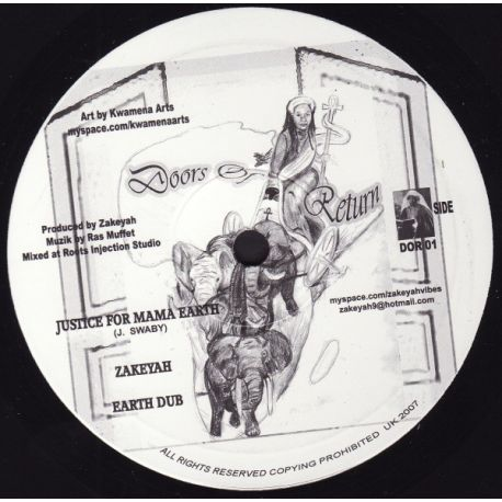 Zakeyah - Justice For Mama Earth , Past Forgotten - 10""
