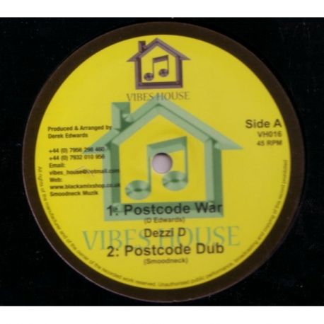 Dezzi D /  Robert Emanuel - Postcode War / The Half That's Never Been Told - 10""