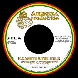 K.C. White /  The Itals - World In A Wicked Spin - 7""