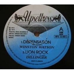 Winston Watson  /  Dillinger - Dispensation / Lion Rock - 12""
