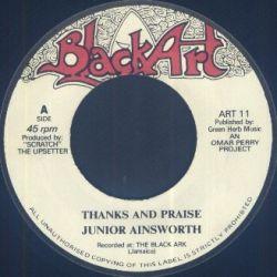 "Junior Ainsworth - Thanks And Praise - 7"""