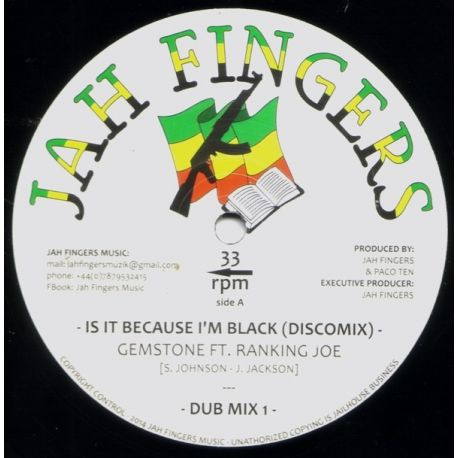 Gemstone  /  Ranking Joe - Is It Because I'm Black - 12""