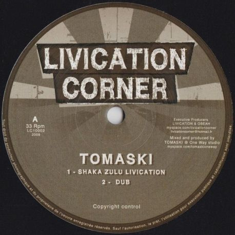 Tomaski - Shaka Zulu Livication / More Direction - 10""