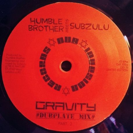 Humble Brother /  Subzulu - Gravity - 7""
