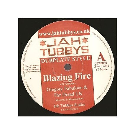 Gregory Fabulous & Dread UK, The - Blazing Fire, Space Rockers - 10""