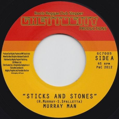 "Murray Man - Sticks And Stones - 7"""