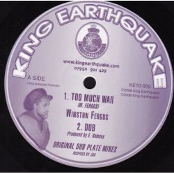 Winston Fergus - Too Much War , Jah Is Wonderful - 10""