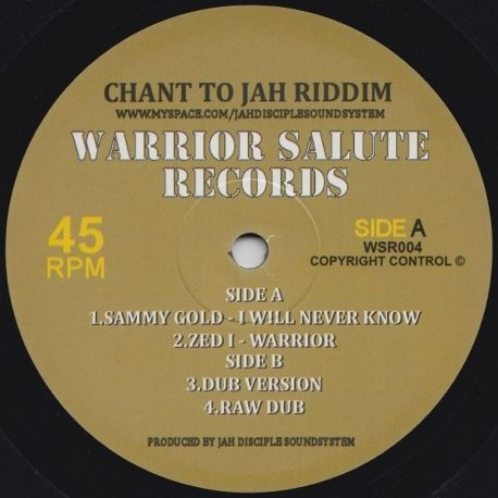 Sammy Gold /  Zed I - I Will Never Know / Warrior - 10""