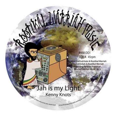 "Kenny Knots /  Rootikal Warriah Sound System - Jah Is My Light / Messiah Dub - 12"""