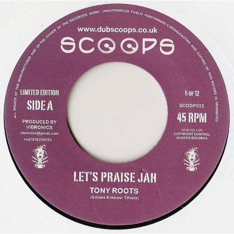 Tony Roots - Let's Praise Jah - 7""