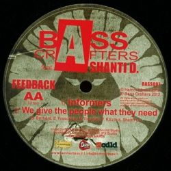 """Bass Crafters /  Shanti D - Bass Crafters feat. Shanti D - Feedback - 12"""""""