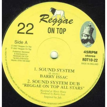 Barry Issac , Amhari - Sound System , King Selassie I Is The Greatest - 10""
