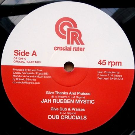 Jah Rueben Mystic /  Solo Banton - Give Thanks And Praises / Ghetto Youth Stand Firm  - 10""