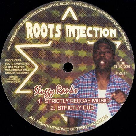 "Sluggy Ranks - Strictly Reggae Music / Badman - 10"""