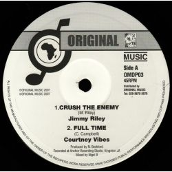 Jimmy Riley , Courtney Vibes - Crush The Enemy , Full Time - 10""