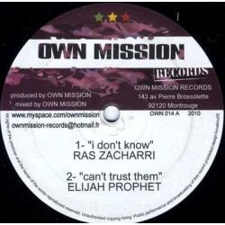 Ras Zacharri / Elijah Prophet / Natural Black /  - I Don't Know / Can't Trust Them / Let Me See / Don't Know Riddim - 10""