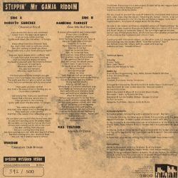 "Roberto Sanchez / Ranking Forest - Steppin' My Ganja Riddim - 10"""