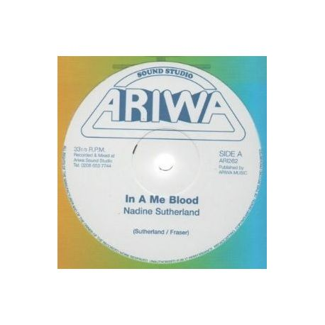 Nadine Sutherland / Mad Professor - In A Me Blood / ?Tribal Beat Dub - 12""