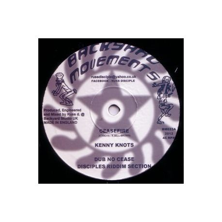 Kenny Knots / Lutan Fyah - Ceasefire / No Stress We - 10""