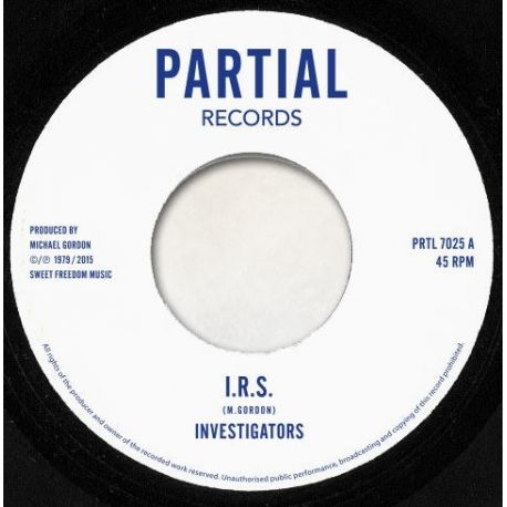 The Investigators  - I.R.S. - 7""