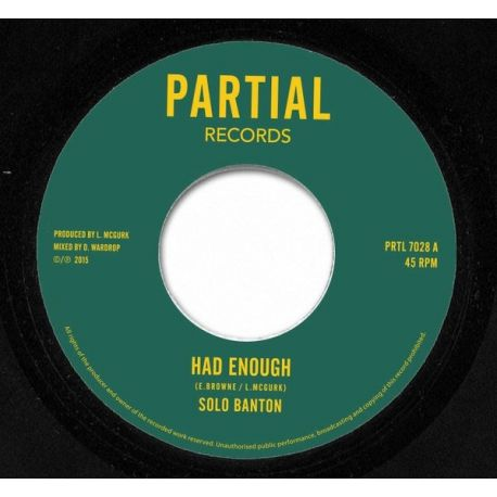 Solo Banton - Had Enough - 7""