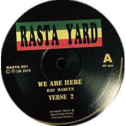 "Ras Marcus / Ras Tuffy Irie - We Are Here  /  Chalice Hard - 12"""