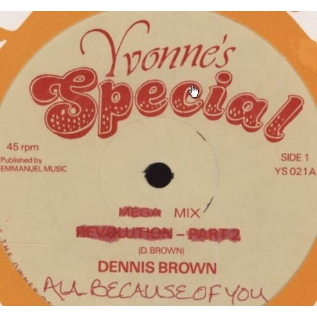 Dennis Brown - All Because Of You - 12""