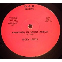 Ricky Lewis  -  Apartheid In South Africa / African Struggler  - 12""