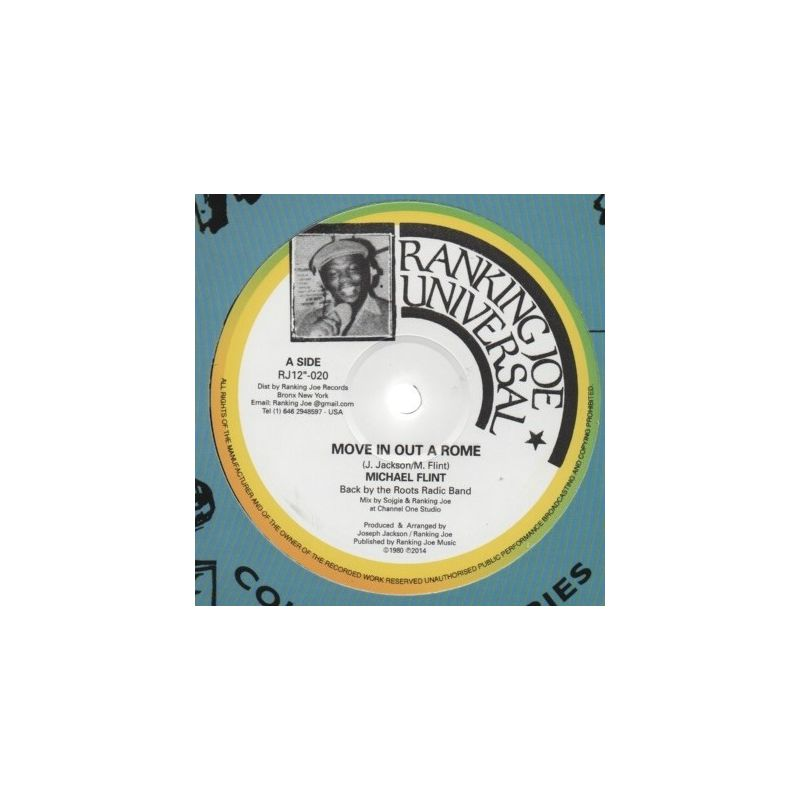Michael Flint  / Ranking Joe - Move In Out A Rome/Pretty Looks Can't Hold Me - 12""