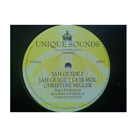 """Christine Miller - Jah Guide I - 10"""""""