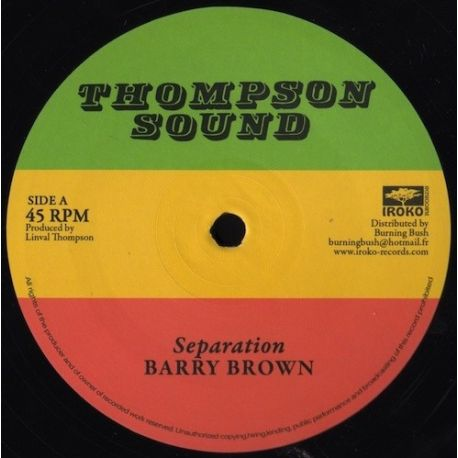 """Barry Brown / The Roots Radics - Separation / Scientist In Fine Style - 12"""""""