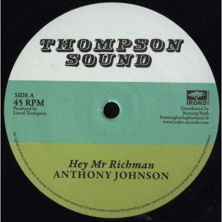 Anthony Johnson / Bunny Lie Lie - Hey Mr Richman / Don't You Try - 12""