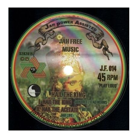 """Jah Free - Hail The King - 12"""""""