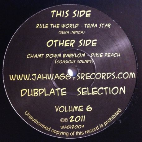 Dixie Peach / Tena Star - Jah Waggys Dubplate Selection Volume 6 - 12""