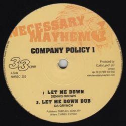 """Dennis Brown / Brinsley Forde / Da Grynch - Company Policy 1 - 12"""""""