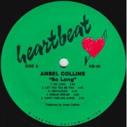Ansel Collins - So Long - LP